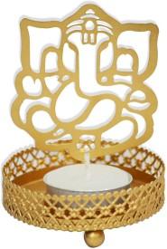 Shagun For You Ganesha Brass 1 - Cup Tealight Holder
