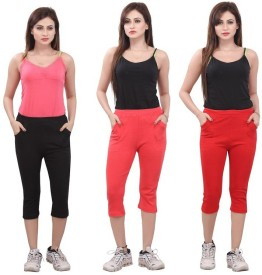 Bfly Women's Black, Pink, Red Capri
