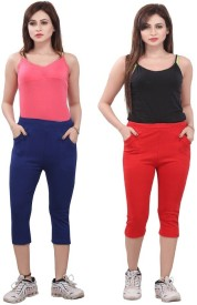 Bfly Women's Blue, Red Capri