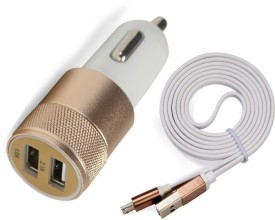 AccuCharger 3.1A Dual USB With Micro USB Cable IIP-DCC-301 Car Charger