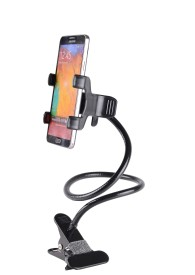 TOPQ Universal Lazy Bed Desktop Car Stand Mount Holder For Cell Phone Long Arm