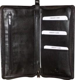 Style 98 Women Black Genuine Leather Wallet(10 Card Slots)