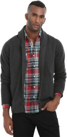 Zobello Men's Button Solid Cardigan