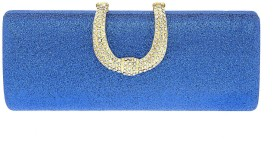 The Ethnic Wears Party Blue Clutch
