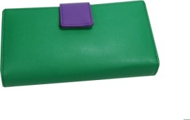 Essart Women Casual Green PU Leather Clutch