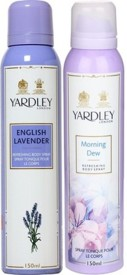 Yardley English Lavender and Morning Dew..