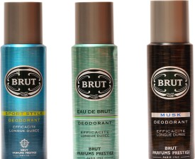 Brut Sports, Eau De Brut, Musk Deo (Set of 3)