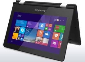 Lenovo Yoga 300 (80M00011IN) Laptop (Intel Pentium Quad Core- 4GB RAM- 500GB HDD- 29.46 cm (11.6) Touch- Windows 8.1) (Black)