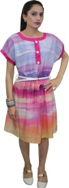 CROWN NINE Women's A-line Multicolor Dress