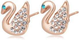 Carina Zest Swan Swarovski Crystal Crystal Stud Earring