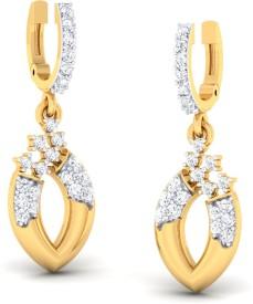 Ornomart glam team Diamond Metal Hoop Earring