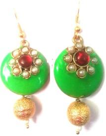 Kshitij Jewels Meenakari- Azure Color of Heaven Alloy Dangle Earring