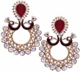 Styylo Fashion Diva Style Zircon Alloy Chandbali Earring