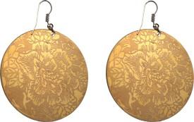 Trendy Nuts Golden Egyptian Flower arts Alloy Dangle Earring