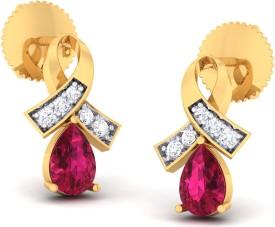 Ornomart forever pearl Diamond Metal Stud Earring