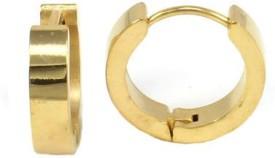 Vaishnavi Gold Shiner Stainless Steel Hoop Earring