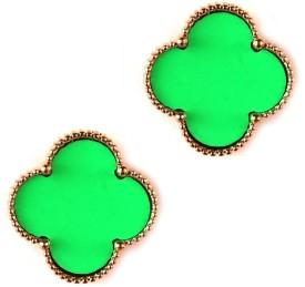 Jazz Jewellery CZ Delly Wear Traditional Gold Plated Green Women Alloy Stud Earring