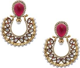Royal Bling Glorious Kundan Ruby Alloy Dangle Earring