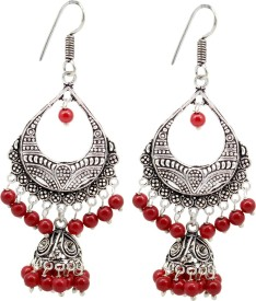Frabjous Fusion Indiano Enriched German Silver Dangle Earring