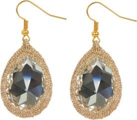 SANTAJ ERHCWH027 Swarovski Crystal Brass Dangle Earring