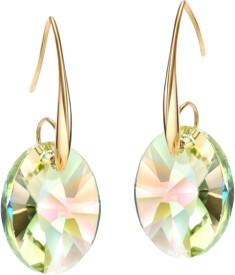 Swarovski Elements Austria Crystal 14K Gold Plated Charm Drop Dangle Gift for Women Swarovski Crystal Metal Stud Earring