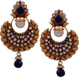 Prisha ATGOL5012 Zircon Alloy Chandbali Earring
