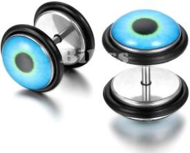 Vaishnavi First Quality Korean Made Unisex Beautiful Eye Design Long Lasting Non-Allergic Ear 316l Stainless Steel Stud Earring