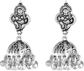 Mahi Pattern Alloy Jhumki Earring