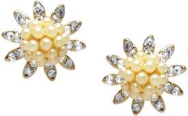 Jewelz Golden Stud Earring Metal Dangle Earring