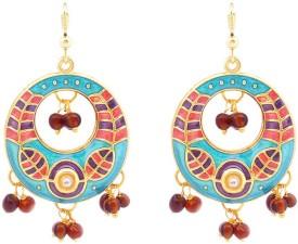 MK Jewellers Meenakari Bali Dangler55 Brass Dangle Earring