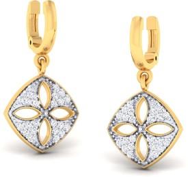 Ornomart dangling leaves Diamond Metal Drop Earring