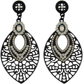 Taj Pearl Designer Alloy Drop Earring