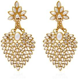Jewels Guru Pearl Alloy Chandelier Earring