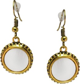 Jewelz Gold Plated Stone Studded Ear hanging Metal Dangle Earring