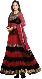 MF Retail Georgette Embroidered Salwar Suit Dupatta Material(Un-stitched)