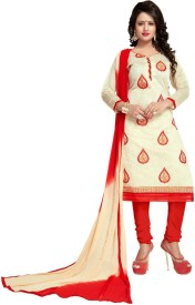 Vaidehi Fashion Chanderi Embroidered Suit Fabric(Un-stitched)