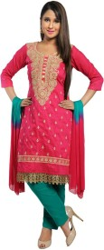Chhabra 555 Cotton Embroidered Salwar Suit Dupatta Material