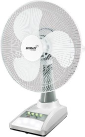 Eveready RF03 3 Blade (14 Inch) Rechargeable Table Fan