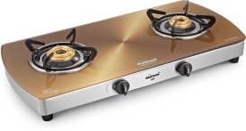 Sunflame Crystal Gold 2 Burner Gas Cooktop