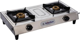 Surya Flame Eco Deluxe 2 Burenr SS Manual Gas Cooktop