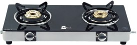 Black Pearl PNG Glass Top Gas Stove (2 Burner)