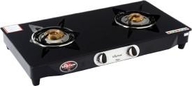 Surya Flame Glaze SFST-0052BA 2 Burner Glass Manual Gas Cooktop