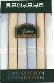 Bonjour Men's Hanky Handkerchief