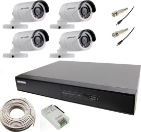Hikvision-DS-7204HGHI-SH-4-Channel-Hybrid-Video-Recorder-4-Bullet-IP-Cameras