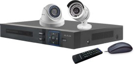 Blaze BGD1B1-HD 4-Channel Dvr (With 1 Dome & 1 Bullet Cameras ,Remote, Mouse)