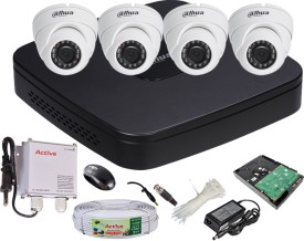 Dahua-DH-HCVR4104C-S2-4-Channel-Dvr-+-4(DH-HAC-HDW1000RP-0360B)-Dome-Cameras-(With-1TB-H.D,Mouse,Power-Supply,BNC-&-DC-Connectors,Cable)