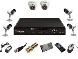 Tentronix T-8AVR-6-D2B410 8-Channel AHD DVR + 2 (1 MP 36 IR Dome ) + 4 (1 MP 36 IR Bullet) Cameras