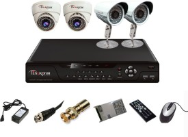 Tentronix T-4AVR-4-DB10 AHD DVR 2 (1MP 36 IR Indoor) 2 (1 MP 36 IR Outdoor) Cameras
