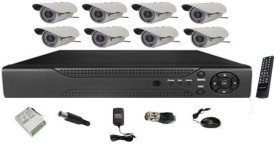 MDI 8 Channel DVR + 36 IR (8 Bullet) CCTV Cameras (With 500GB H.D,Mouse,Remote,Power Supply,Cable,Connectors)
