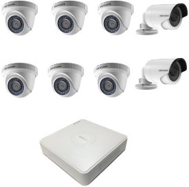 Hikvision DS-7108HQHI-F1 8CH Dvr, 6(DS-2CE56C0T-IR) Dome, 2(DS-2CE16COT-IR) Bullet Cameras